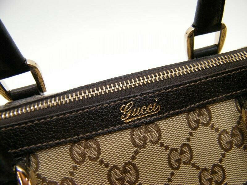 GUCCI GG MONOGRAM brown mini DOCTOR BOSTON HAND B… - image 8