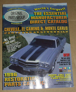 Chevelle ElCamino amp Monte Carlo Restoration Parts Catalog 1996 OPG USA - <span itemprop='availableAtOrFrom'>Wisbech, United Kingdom</span> - Chevelle ElCamino amp Monte Carlo Restoration Parts Catalog 1996 OPG USA - Wisbech, United Kingdom