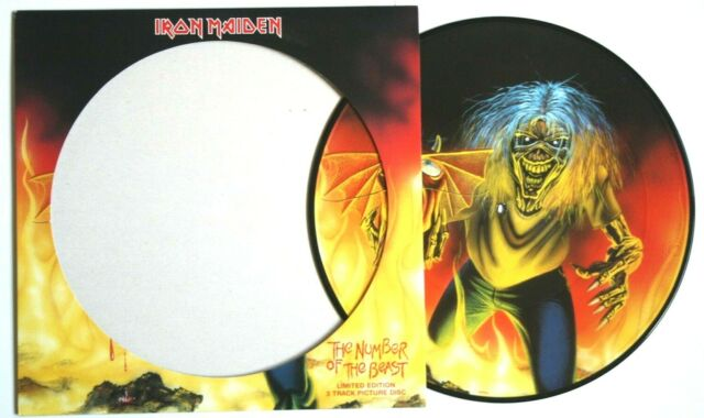 """NEW / MINT! Iron Maiden Number of the Beast 12"""" Vinyl Picture Disc"""