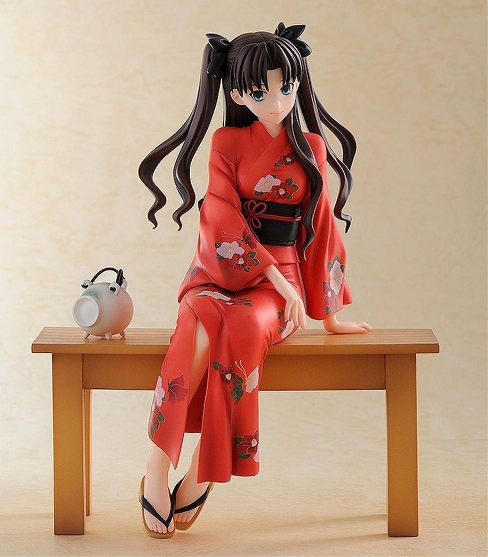 Gratuitoing  - Fate Stay Night statuette PVC 1 8 Rin Tohsaka  Yukata Ver. 17 cm. nuovo  nelle promozioni dello stadio