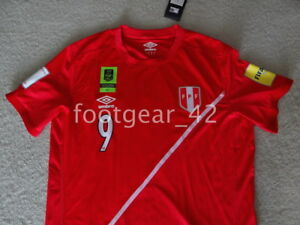 1db1362de NEW Peru Paolo Guerrero PG9 Soccer Jersey Russia 2018 Qualifiers ...