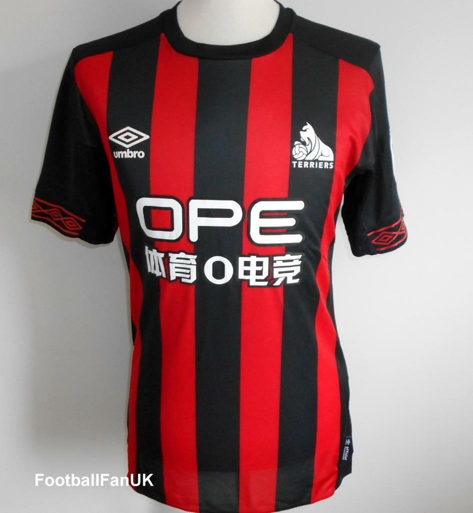 Huddersfield Town Afc Oficial Umbro Fútbol Visitante Camisa 2018-2019 Hombre