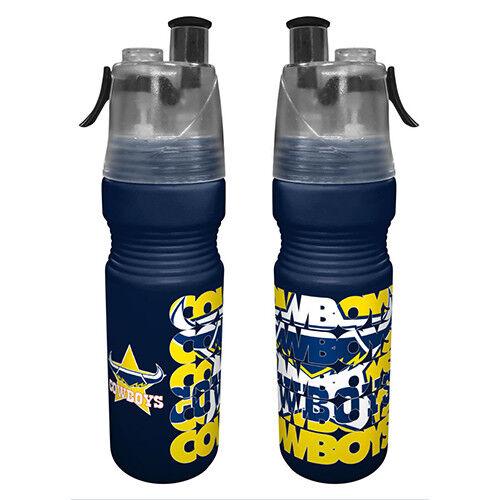 North QLD Queensland Cowboys NRL Drink Bottle /& Water Mister Misting Sport Gift
