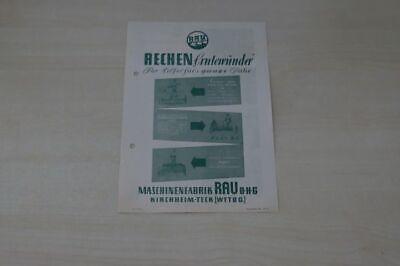 Prospekt 195? Warm And Windproof Rechen Erntewunder Rau Helpful 197779