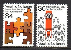 """UN Vienna - 1981 Year of disabled persons Mi. 17-18 MNH - Enschede, Nederland - UN Vienna - 1981 Year of disabled persons Mi. 17-18 MNH Click the button below to view more UN lots from our extensive offerings. After clicking select """"UN"""" in the blue side-bar on the left. Our lots start at just €0,25 Combine up  - Enschede, Nederland"""