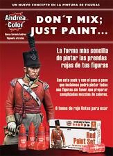 Andrea Miniatures Rojo Pintura acrílica Set 6 botellas