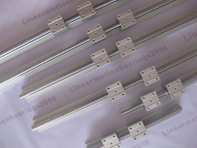linear bearing slide rails linear Guides SBR16 (6 supported rails+12blocks)