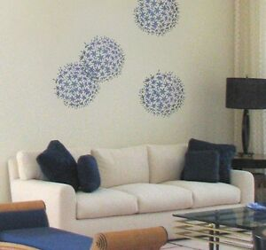 Image Is Loading Allium Grande Wall Art Stencil Floral Wall Stencils