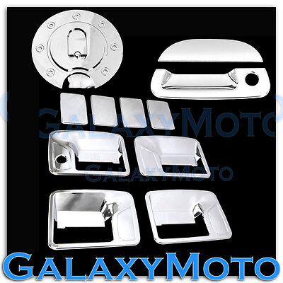 99-07 Ford Super Duty Chrome Mirror+4 Door Handle w//o PSG Keyhole+Tailgate Cover