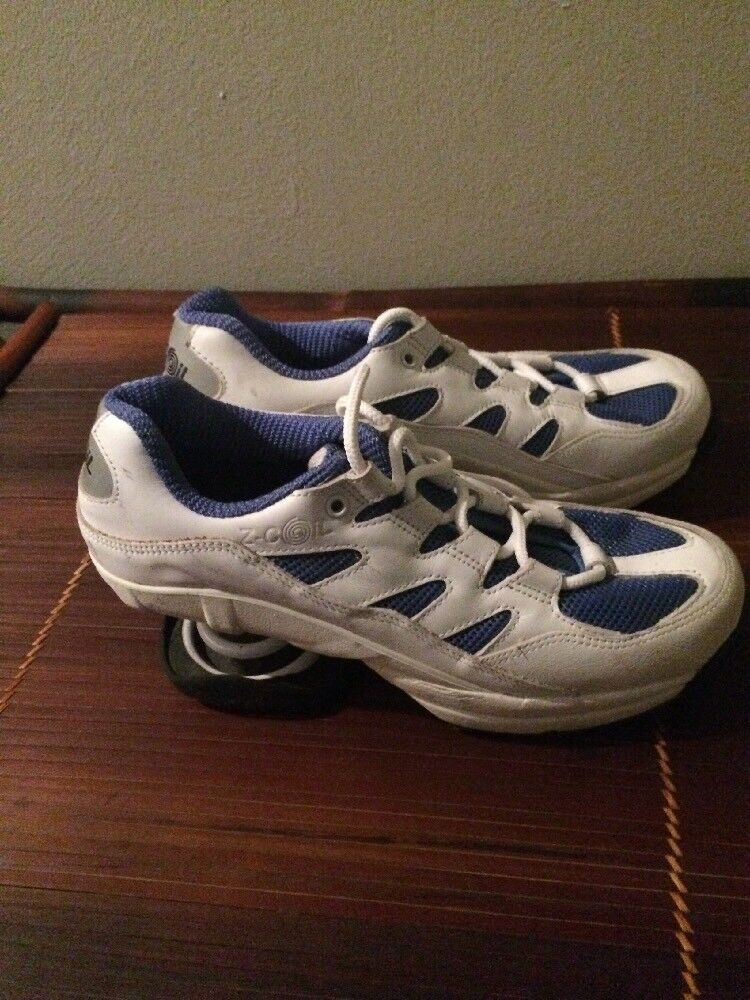Z Coil Freedom 2000 White Blue Athletic Walking Shoes Women's Size 10