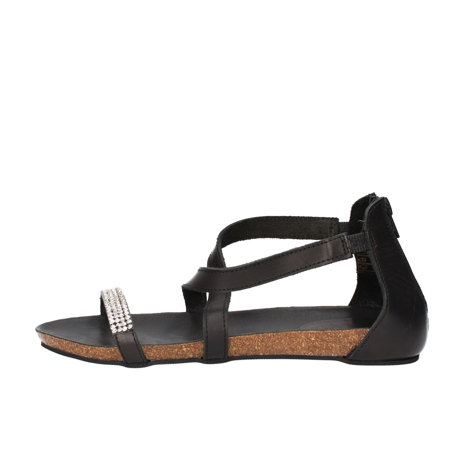 Scarpe donna pelle DOCKSTEPS 38 EU sandali nero pelle donna / strass AG855-C1 92d81a