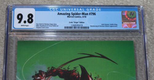 AMAZING SPIDER-MAN 796 CGC 9.8 CRAIN COMICXPOSURE VIRGIN VARIANT RED GOBLIN 1000