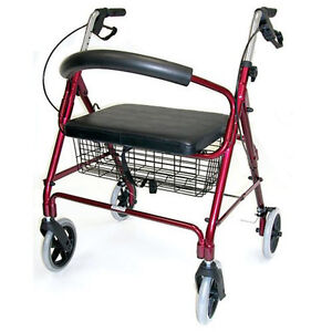 Medical Adult Rollator Walker With Wide Seat Folding
