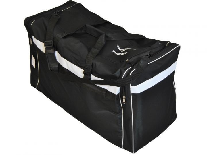 PHOENIX Sporttasche black-white, L=80x35x45 cm. Reisetasche, Taekwondo, Tennis