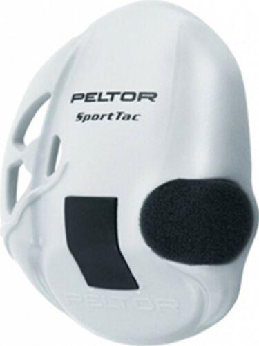 Peltor Sporttac Earshell in White 210100-478-VI New Per Pair Main Peltor Dealer