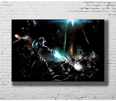 Shadow the Hedgehog Game Art Deco Poster Wall Fabric Canvas 3271