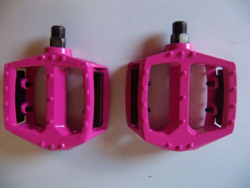 """BICYCLE PEDALS 1//2/"""" ALLOY HOT PINK BMX BEACH CRUISER LOWRIDER MTB ROAD BIKES"""