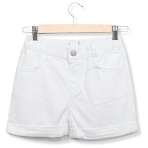 e468a7431 Image is loading Girls-White-Denim-Shorts-Casual-Holiday-Summer-Adjustable-