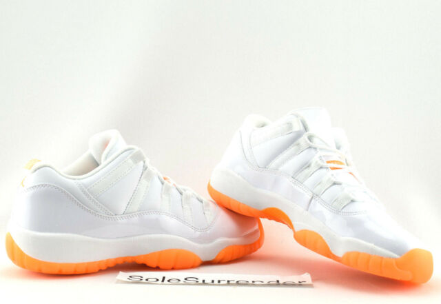 9b80e199e1c504 Nike Air Jordan 11 Retro Low GG Girls Womens White Citrus Aj11 ...