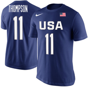 sports shoes 9fcb8 500d2 Details about Nike Dream Team USA Klay Thompson Elite Olympic Basketball  Jersey shirt men FIBA