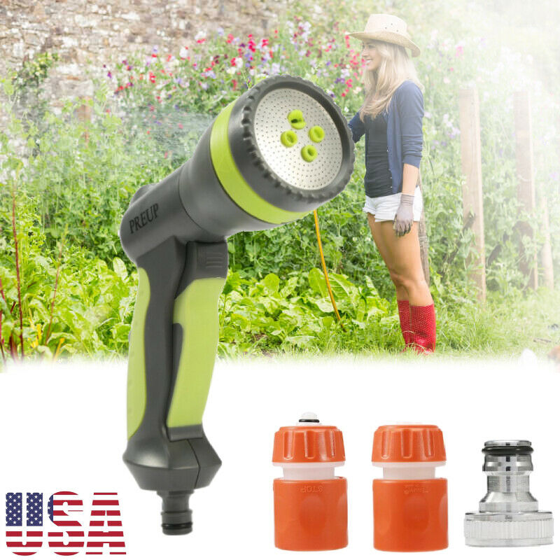 H2O WORKS Heavy Duty Premuim Spray Nozzle,Thumb Control,Solid Water Garden Twist Nozzle,from Soft Sprayer for Watering Lawn or Garden Flowers to Powerful Water Flow for Driveway Washing Deck Cleaning