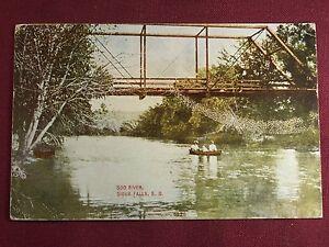 South-Dakota-Sioux-Falls-Soo-River-1910-Antique-Photo-Postcard-Vintage