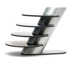 4x-Design-Edelstahl-Glas-Untersetzer-mit-Staender-5-tlg-rutschfeste-Unterseite