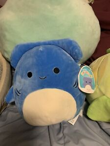 "Squishmallow 8"" ROCKET Blue Hammerhead Shark Plush NWT 2021 Collectible HTF"