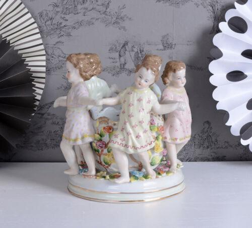 SCHALE BAROCK KINDERREIGEN PORZELLANSCHALE KINDER FIGUREN Porzellanfigur Antik