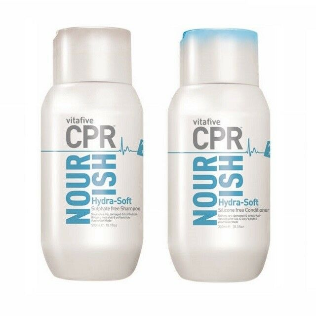 Vita 5 CPR Nourish Hydra-Soft Shampoo & Conditioner 300ml (Vita Five) Sulphate