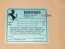 Ferrari F1 Champion Dash Emblem Badge Plate Enzo F430 360 355 599 456 Italia