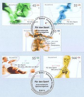Sparsam Brd 2004: Sporthilfemarken Nr. 2382-2386 Mit Bonner Ersttags-sonderstempeln! 1a