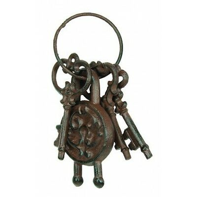 Jailor Keys Skeleton Pirate Cast Iron Brig Antique Reproduction A582 Five Shell