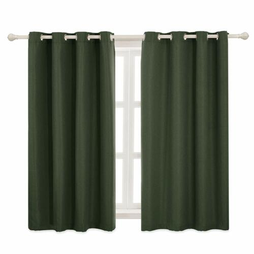 Subrtex Textured Blackout Curtains 2 Panels Thermal Insulated Grommet Curtains