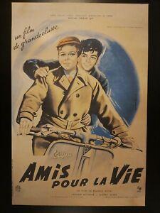 Affiche-cinema-AMIS-POUR-LA-VIE-1955-Tirage-limite-a-50-ex