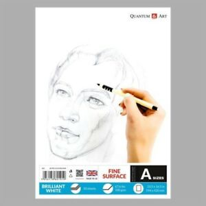 Details about Sketch Pad Smooth White Drawing Artist Paper GUMMED Book 50  sheets