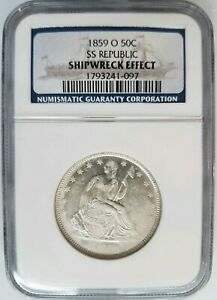 1859-O-SS-Republic-Seated-Liberty-Half-Dollar-NGC-Shipwreck-Silver-Treasure-Coin