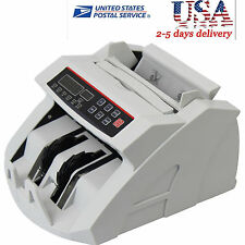 Money Bill Currency Counter Counting Machine Counterfeit Detector Mg Cash New