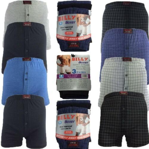 Da Uomo Classico BILLY Boxer confezione da 6 Cotone Pantaloncini Slip Underwear Pantaloni S A 5xl