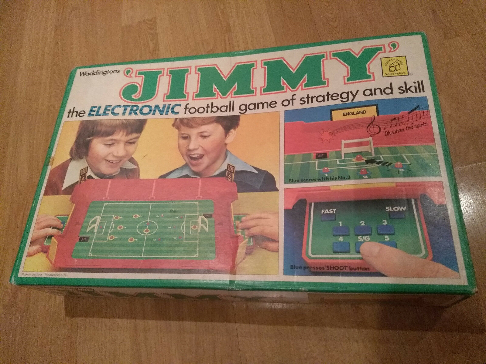 WADDINGTONS JIMMY ELECTRONIC FOOTBALL BOX VINTAGE 1980 GAME EXC COND FREE UK P&P