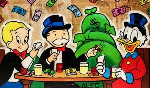 Alec-Monopoly-Print-on-Canvas-Graffiti-art-Wall-Decor-Poker-Gang-28x48-034