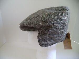 4778cb5f38e4 Hanna Hats Irish tweed cap green speckled ear neck flap Donegal ...