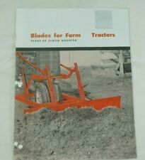 Ih Farmall Cub 100 140 240 200 Super A C Leveling Grader Blades Color Brochure
