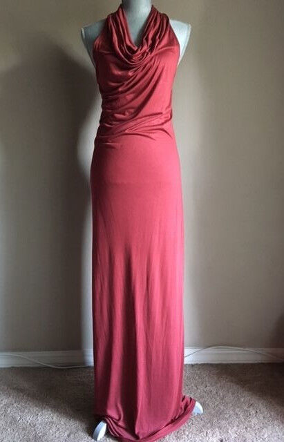 Helmut Helmut Lang Women's Sleeveless Maxi Dress Carmine Red Size S NEW