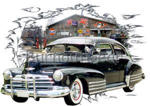 860302ce 1948 Black Chevy Fleetline Custom Hot Rod Garage T-Shirt 48 Muscle ...