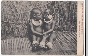 SPG-Missionary-PPC-No-57-A-Zulu-Boy-amp-Girl-Unposted-c-1910-039-s