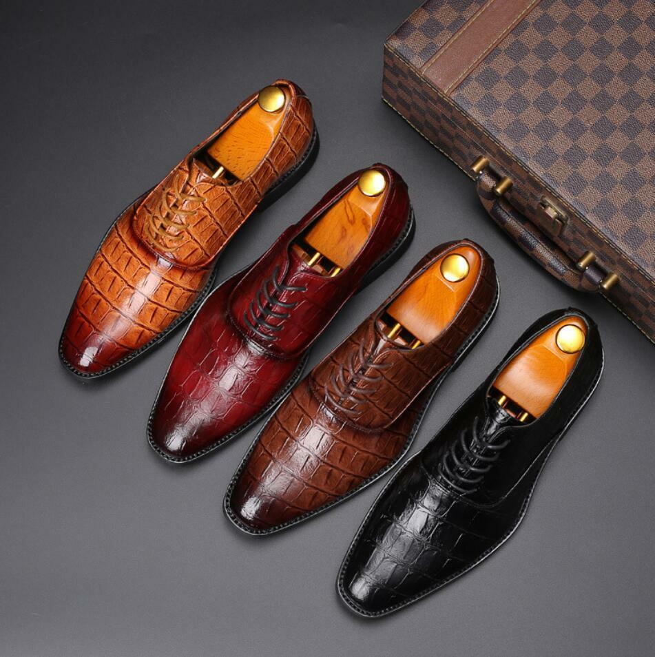 Mens Lace Up Business Formal Casual Smart Dress Office Wedding shoes Fashion