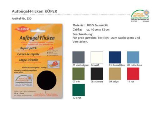 77,60€//1qm Aufbügel Flicken Reparatur fester Stoff Köper 40x12 cm verschiedene