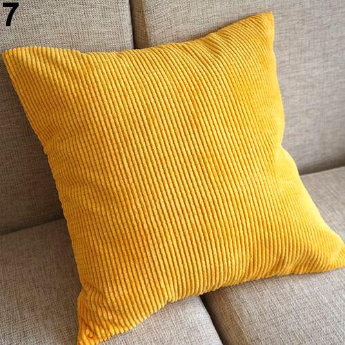 Favorite Corn Kernels Corduroy Sofa Decor Pillow Case Cushion Cover Square