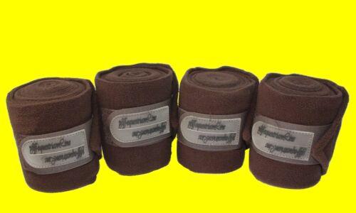PFIFF Fleecebandagen Polo BRAUN 008350-50-1 - 4 Bandagen im Set - NEU